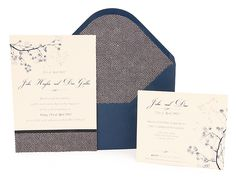 "Invitación ""Diseño Japonés"" Color Azul, Ticket Invitation, Invitation Design, Japan Style, Dark Blue, Wedding Invitations, Weddings, Cards"