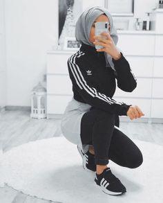 14 ideas for fashion hijab casual beautiful 2 Modest Fashion Hijab, Modern Hijab Fashion, Street Hijab Fashion, Muslim Women Fashion, Hijab Casual, Hijab Sport, Sports Hijab, Mode Outfits, Sport Outfits