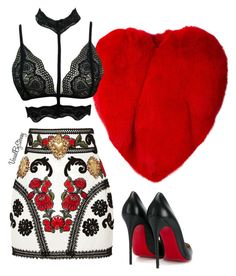 """""""Untitled #884"""" by fashionaffiliated ❤ liked on Polyvore featuring Dolce&Gabbana, Christian Louboutin and Yves Saint Laurent"""