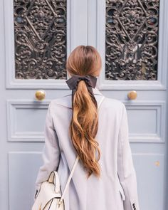 """37.6k Likes, 287 Comments - Julia Engel (Gal Meets Glam) (@juliahengel) on Instagram: """"Tied with a 🎀 Linked this look in my profile! #hairbow #bows #paris #gmgtravels #frenchblue…"""""""