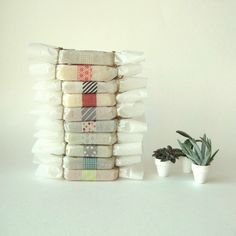 prunellasoap - just love how these are wrapped w/ the washi tape.  Would also be pretty for baked goods/candy