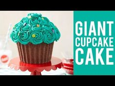 How to Make a Giant Cupcake Cake - YouTube