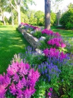 Roll out your front yard welcome mat with the help of easy-care landscaping. Perennials, annuals, flowering shrubs and color-rich trees create a lush landscape that sets the scene for a warm, inviting…MoreMore #LandscapingIdeas