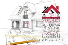 Diseñamos el proyecto de reforma integral de tu vivienda, piso para alquilar, loft, chalet, local, negocio, etc. El mejor precio y las mejores calidades con la mayor experiencia y profesionalidad del sector, ademas de los precios lowcost que presupuestamos. Confía en ATZ Reformas como tantos otros clientes fidelizados durante más de 15 años. ATZ Reformas 91 332 50 33 www.atzreformas.com 692 65 43 17 Madrid, Floor Plans, Loft, Business, Blue Prints, Lofts, Attic Rooms, Mezzanine