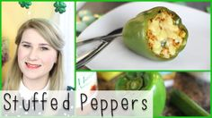 A healthy treat for St. Patrick's Day! Stuffed peppers!!