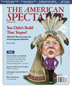 "This magazine cover illustrates why Poke-a-hontass Warren, liberal madam from MA, should not ever be elected again: she is a proven liar. And, a proven plagiarist. And, a proven thief. A perfect combination of liberal ""values"" and offensive behavior. Lizzie is a gas bag and a fraud."