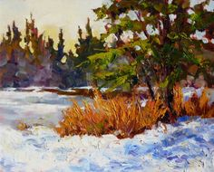 Winter's Textures, painting by artist Sharon Lynn Williams