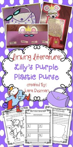 Lilly's Purple Plastic Purse: K-2 Interactive Notebooks, Anchor Charts, Vocabulary Cards, Craftivities and more!