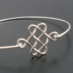 Celtic Knot Bracelet  Silver Celtic Bangle Celtic by FrostedWillow, $14.95