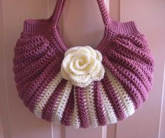 Crochet fat bottom fall shoulder bag.