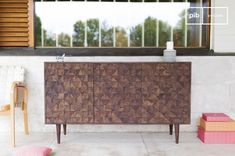 Wooden sideboard Balkis and others chests & sideboards to discover at PIB, the specialist in vintage furniture, lighting and decorating style. Modern Sideboard, Credenza, How To Varnish Wood, Buffet, Dark Wood, The Ordinary, Vintage Furniture, Decor Styles, Living Room Decor