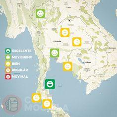 El tiempo en Tailandia en ABRIL