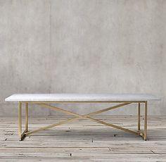 RH's Torano Marble Rectangular Dining Table