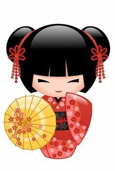 Kokeshi Tattoo, Doll Tattoo, Geisha Art, Girl Posters, Art Japonais, Asian Doll, Kokeshi Dolls, Japanese Paper, Asian Art