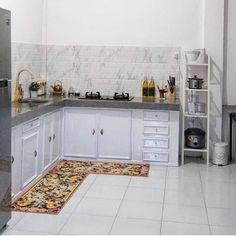 Kitchen Room Design, Home Room Design, Kitchen Sets, Home Decor Kitchen, Kitchen Interior, Home Kitchens, Kitchen Cabinets Pictures, Small House Interior Design, Kitchen Models