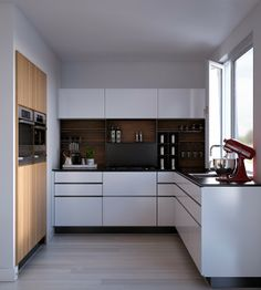 [ ] Some new Interior Renderings from Netherlands based CG Artist George Nijland : Project capacity M. Kitchen Interior, New Kitchen, Kitchen Dining, Kitchen Decor, Kitchen Cabinets, Kitchen White, Interior Rendering, Interior Design, Laundry Design