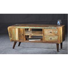 Retro India tv kast recycled hout model Delhii   Terbeek Living.nl