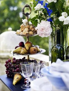 beautiful tiered stand for serving