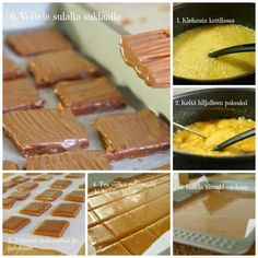 DIY Helppo Kotitekoinen Daim | Annin Uunissa Healthy Treats, Vegan Desserts, Yummy Cakes, Fudge, Easy Meals, Good Food, Sweets, Candy, Chocolate