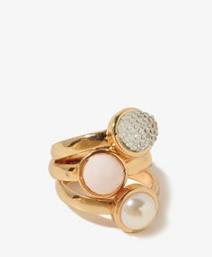 FOREVER 21 Ball Bead Ring Set on shopstyle.com