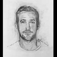 Celebrity graphite sketch Ryan Gosling, Graphite, Sketch, Celebrity, Hollywood, Art, Graffiti, Sketch Drawing, Celebrities
