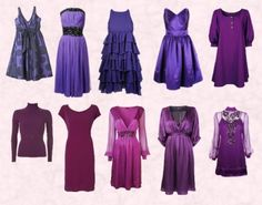 Latest Fashion Trends in Purple - Dresses Autumn 2007 - Fashion History, Costume Trends and Eras, Trends Victorians - Haute Couture Lila Outfits, Purple Outfits, Purple Dress, Violet Dresses, Dresses For Teens, Fall Dresses, Cute Dresses, Casual Dresses, Victoria Secret Outfits