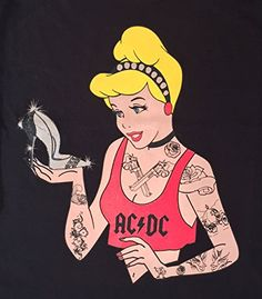 Cinderella Disney Tattoos Punk T-shirt New