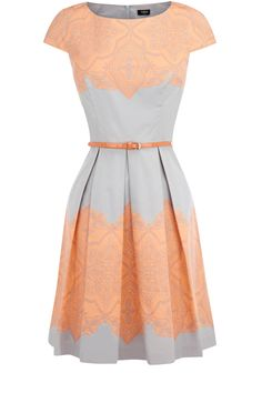 Oasis Shop | Pale Grey Lace Tile Print Dress | Womens Fashion Clothing | Oasis Stores UK
