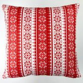 Found it at Wayfair - Christmas Stars Stripes Throw Pillow Cover