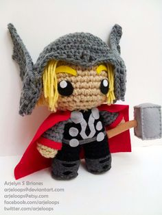 Arjeloops Movie Based THOR Crochet Doll by Arjeloops on DeviantArt