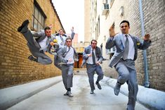 Like this photo idea for Bryan and his groomsmen.. this sort of picture would capture all of their fun personalities! :)