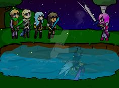 Angel's Protection [Aarmau // Minecraft Diaries] by MarzyDraws on DeviantArt<<<<< I can't get over this the feels