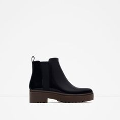 Image 1 of FLAT TRACK ANKLE BOOTS from Zara