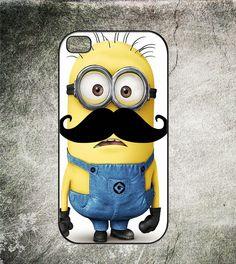 Despicable Me 2 Mustache Minion, Iphone 4 Case,