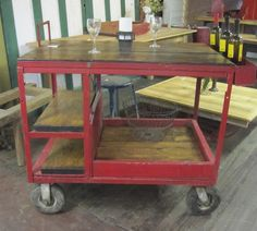 repurposed industrial cart - Google Search
