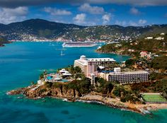 St. Thomas USVI - Frenchman's Reef Marriott Resort. --saw this from our cruise ship----breathtaking--would love to return for a vacation at Frenchman's Reef.  Loved St. Thomas