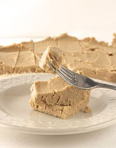 Healthy peanut butter protein fudge