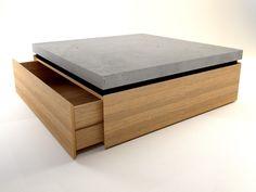 Betoncouchtisch aus hochwertigen Eichenholz auf Maß gefertigt!