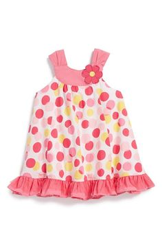 Little Me Polka Dot Woven Cotton Sundress (Baby Girls) available at #Nordstrom