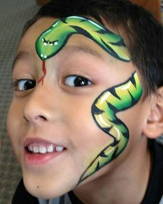 Snake half face paint