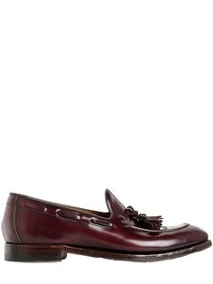 $581, Silvano Sassetti Tasseled Brushed Leather Loafers. Sold by LUISAVIAROMA. Click for more info: https://lookastic.com/men/shop_items/387123/redirect