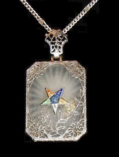 Antique Camphor Glass Necklace Order of the by MrsFullersAttic