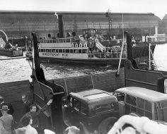 August 29, 1950. Ferry over Het IJ in Amsterdam. In the background Centraal Station. Photo Dick Herder #amsterdam #1950  #centraalstation #HetIJ