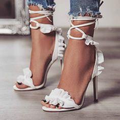 Open Toe Lace Up High Heel https://www.myshoebazar.com/shoes/open-toe-lace-up-high-heels/ #laceupsandalsheels