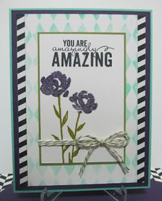 Savvy Handmade Cards: You Are Amazing Card