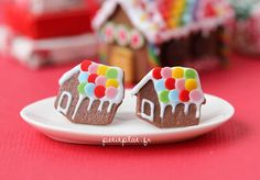 Hey, I found this really awesome Etsy listing at https://www.etsy.com/listing/114329954/gingerbread-house-earrings-rainbow