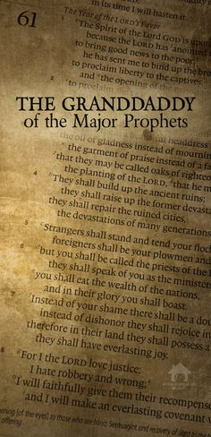 "Prophets are called ""major"" because their books are longer than the ""minor"" prophets. Containing 66 chapters, Isaiah is the granddaddy of them all. Homeschool Blogs, Homeschooling, To Tell, Speakers, Authors, Encouragement, Told You So, Bible, Posts"