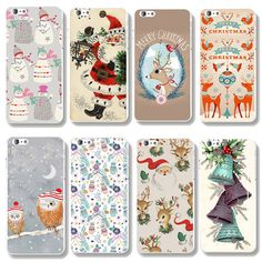 High Quality Christmas Santa Claus Snowman Cute Pattern Back Hard PC Case Cover For iPhone 5S 6 EC482 #clothing,#shoes,#jewelry,#women,#men,#hats,#watches,#belts,#fashion,#style