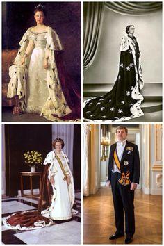 royalmontages: Dutch (Netherlands) monarchs Portraits-Queen Wilhelmina (daughter of Queen Emma), Queen Juliana, Queen Beatrix, King Willem-Alexander Dutch Princess, Real Princess, Royal Crowns, Royal Jewels, Royal Life, Royal House, Nassau, King Of Netherlands, Queen Wilhelmina