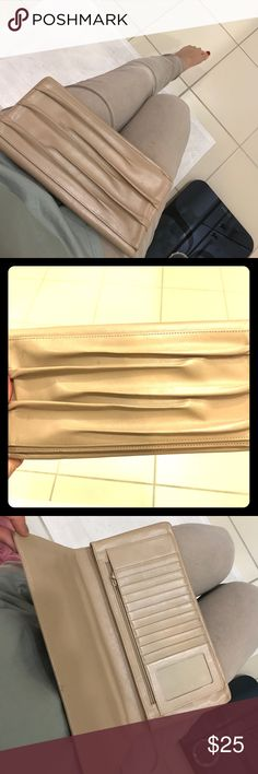 Nude clutch Nordstrom clutch . Cool design. Goes with everything. Lots of miles left! Normal wear Nordstrom Bags Clutches & Wristlets